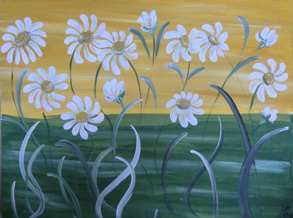 "Titel: ""Blumen 2"" * Technik: ""Acryl"" * Format: 40x30, gerahmt * Mindestgebot 25,- €"