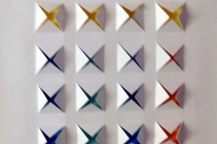 """Titel """"Interstellare Ordnung 2"""" * Technik: Papierschnitt * Format: 24 x 24 Objektrahmen * Mindestgebot: zus. 60,- €"""