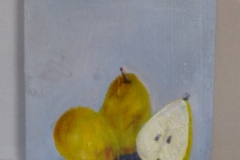 "Titel: ""Obst"" * Technik: ""auf Holz"" * Format: 20x20 * Mindestgebot: 60,-€"