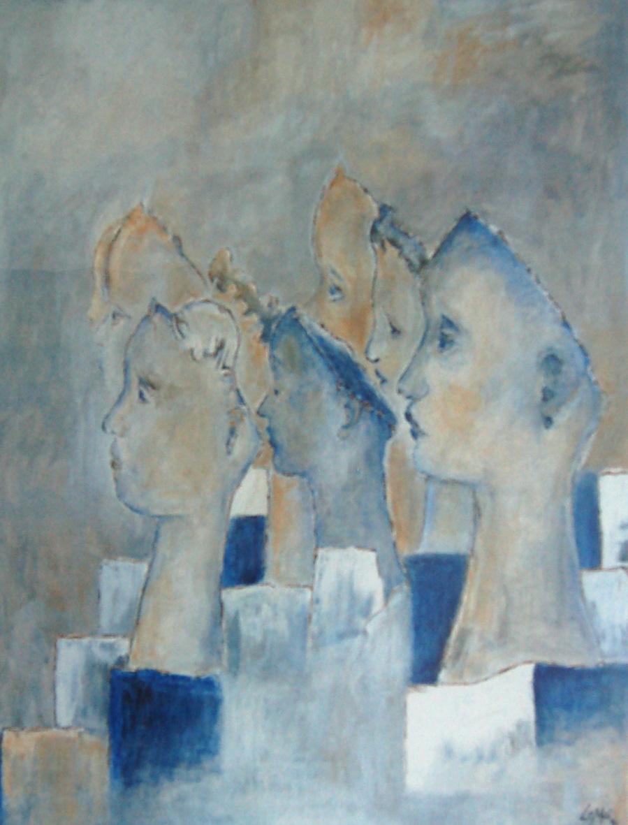 Gaby Lepper-Mainzer 150x120 Öl auf Leinwand