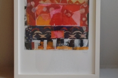 """Titel: """"Collage"""" * Format: 33x43 gerahmt * Mindestgebot: 25,-€"""