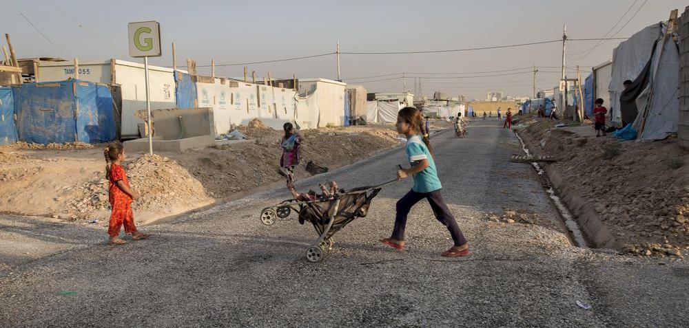 Flüchtlingslager nahe Erbil im Nordirak: terre des hommes kümmert sich um die Kinder